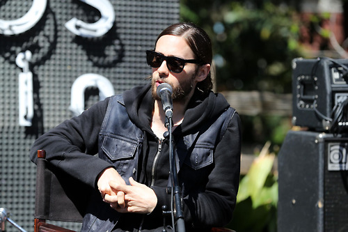 Jared Leto appears for a chat about twitter at South by Southwest in Austin, Texas