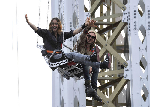 Jared Leto Enjoys A Day At Amusement Park