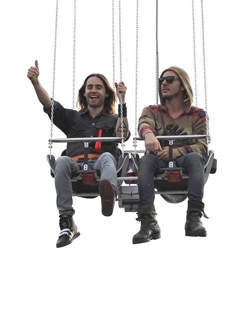 Jared Leto Enjoys A Day At Amusement Park