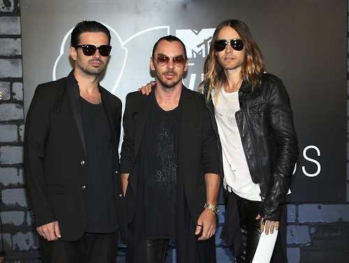 Members of the band 30 Seconds to Mars arrive for the 2013 MTV Video Music Awards in New York